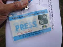 Press Pass for press day