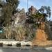 La base del mirador sul Cerro Santa Lucia in Santiago