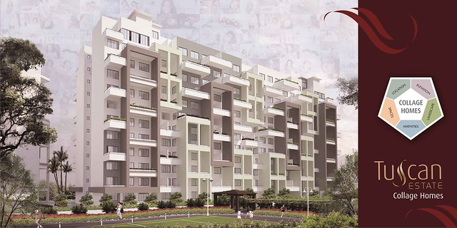 Tuscan Estate Kharadi Pune Elevation Hoarding