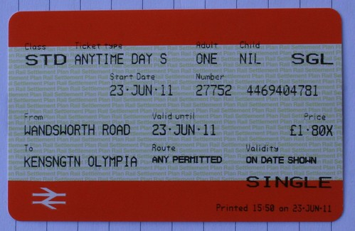 My Parliamentary Train Ticket