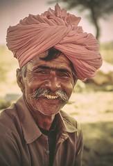 India By Velvia 50 (3 of 52) (DagobaMedia) Tags: travel portrait india film tourism smile happy eyes 1999 traveller camel velvia rajasthan velvia50 travelphotography moustach thardesert turbon travelstockphotography dagobamedia dagobaphotography wwwdagobamediacom