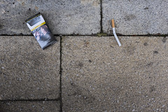 _DSF2707 (Dave Cavanagh Street) Tags: cambridge cigarettes cigarettepackage healthwarning broken snapped damaged discarded thrownaway givingup drop dropped pavement fag ciggie street streetphotography fujix100t fujiwclx100