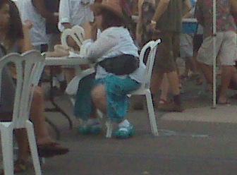 OMG turquoise platform crocs?