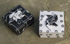 "Quadratische Schachtel ""Vortex"" von Tomoko Fuse (Tagfalter) Tags: origami box tomokofuse"