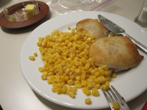 Corn and mushroom turnovers