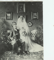 From the old family album (catarina.berg) Tags: wedding portrait vintage bride couple sweden marriage sverige bridegroom weddingfoto 1890es