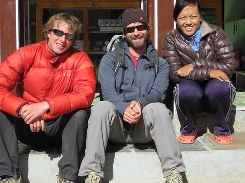 Todd, Scott and our friend Rhita in Namche
