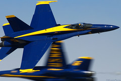 Opposing Solos (EverydayTuesday) Tags: cross hornet f18 blueangels usnavy fa18 solos nathanmiller canon70300is nasfallon canonef70300mmf456isusm fallonnas blueangel6 canon40d navalavaition blueangel5 fallonairshow frankweisser