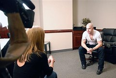Daughtry chatting before the show