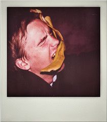 Polaroid 3 (Robert with a banana peel) (Rickard Nilsson) Tags: texture robert film canon polaroid eos 350d smash banana retro filter 80s 70s toss effect 1740mm bananapeel trough nilsson rickard offense bananaskin therickardnilsson polaroidspolaroidviolencesexbeautytravelretrovintagefilm70s80s60s thericpolaroid thekardnilsson