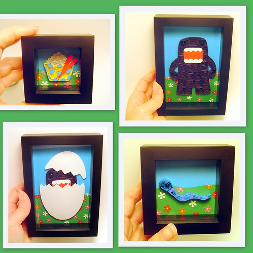 Domo Paper Quilling collage framed