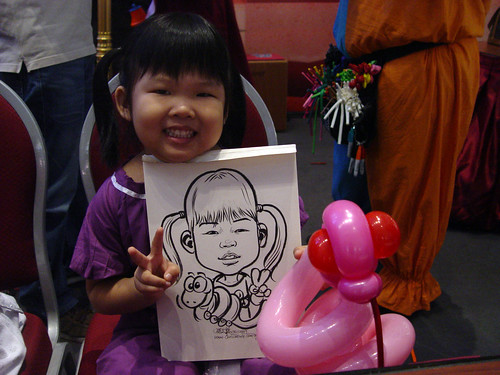 Caricature live sketching for Marina Square X'mas Tenants Gathering 2009 - 14