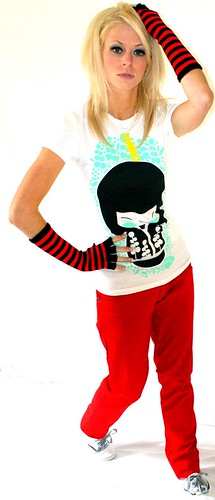 Vacant White Momiji Soul Short Sleeve Ladies T-shirt