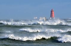 Poolbeg storm (Janek Kloss) Tags: ireland sea dublin irish storm port harbor photo fotograf wind photos harbour large wave irland eire fotka fotografia strom zdjecia irlanda poolbeg ierland ligthouse stron j23  zdjecie fotki irlandia