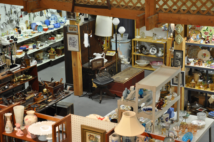 antique mall from second floor