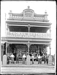 Thomas Brothers Butcher Shop, 203 to 205 Hunter Street West, Newcastle, NSW, 9 November 1904 (Cultural Collections, University of Newcastle) Tags: shop newcastle store thomas australia nsw brambles 1904 butchers 1884 hunterst hunterstreetwest retailshop ralphsnowball snowballcollection ralphsnowballcollection wholesaleshop asgn0862b38 thomasbrothersbutchershop newcastleregionnswhistorypictorialworks photographynewsouthwalesnewcastle