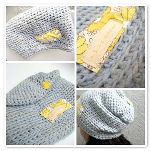 Crocheted slouchy hat