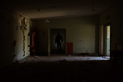 How fast do you think you can make it to the door? (Cory Albrechtson) Tags: black dark scary eerie creepy figure abandond