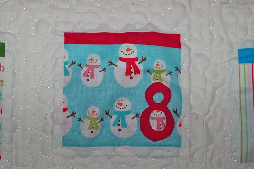 "Snowman ""Day 8"" Pocket"
