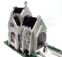 CCCVII Religious Life - Purge with fire! 2 (Shadow Viking) Tags: life castle church religious catholic lego cathedral religion medieval burning narrow moc bigoted classiccastle cccvii cccviireligiouslife