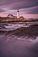 Portland Head Light Sunset (chris lazzery) Tags: longexposure sunset lighthouse maine 5d portlandheadlight capeelizabeth cascobay canonef1740mmf4l bw30nd