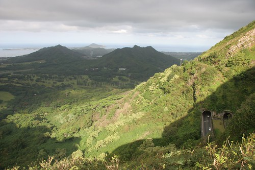 View from Pali Highway Oahu