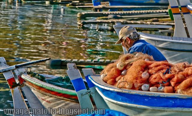Fisherman at Amasra Wharf