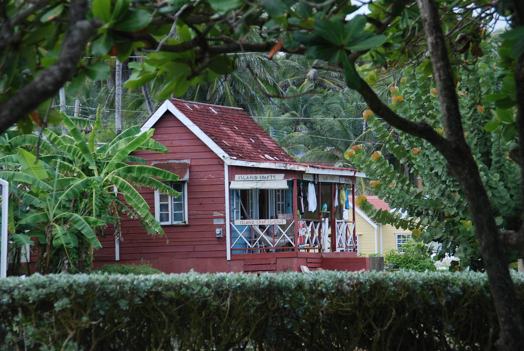 Barbados chattel house turned into a store at Bathsheba
