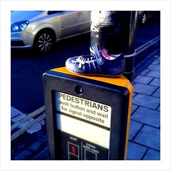 Lost: one shoe (garrettc) Tags: road lost shoe small lolo camerabag pedestriancrossing noticings noticings:id=4178454085