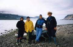940731 On the Beach (rona.h) Tags: july arctic 1994 cloudnine ronah devonisland backofthemoon davidthoreson geoffpope erebusbay