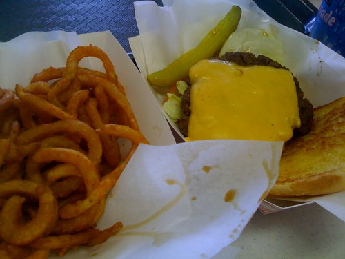 Cheeseburger and Fries from Carnival Food