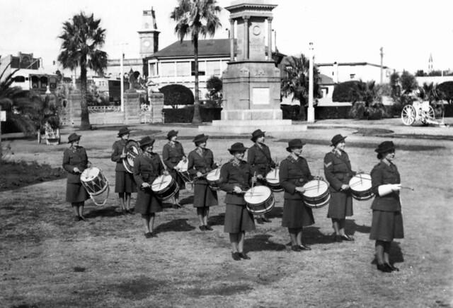 Twelve drummers drumming (almost twelve)