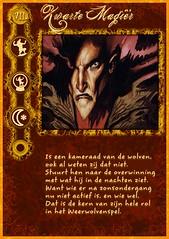 """""""Zwarte Magiër"""" rolkaart uit mijn zelfgemaakte Weerwolven mega-set"""