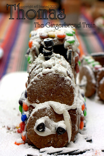 Thomas the gingerbread train