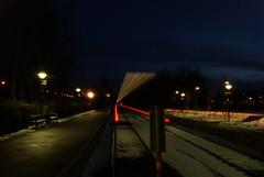 Ghost train to Jgersborg (osto) Tags: train denmark europa europe nightshot sony zealand dslr scandinavia danmark a300 sjlland  nrum lokalbanen osto rudersdal nrumbanen january2010 alpha300 osto