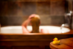 {365/10} (TraderPhotography {Christina}) Tags: woman selfportrait nikon bath days rubberducky 365 day10 selfie 50mm18 photoproject d90
