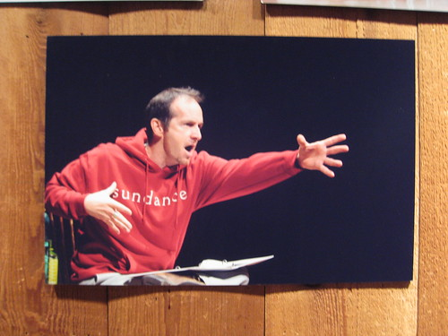 Denis O'Hare photo on the wall of the Sundance Screening Room