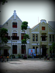 Unexpected Indonesia (3): Restored old Dutch houses (Bhakti -Amsterdam) Tags: indonesia oldbuildings jakarta