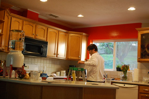 I've always wanted an orange kitchen!