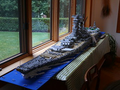 Battleship Yamato on display at Dave Porter's house