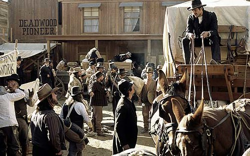 wagon arrives in Deadwood
