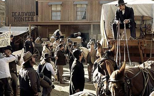 wagon arrives in Deadwood