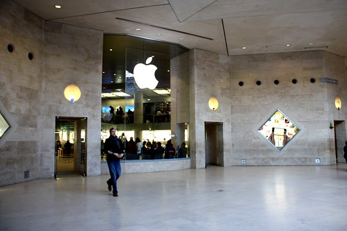apple store paris louvre