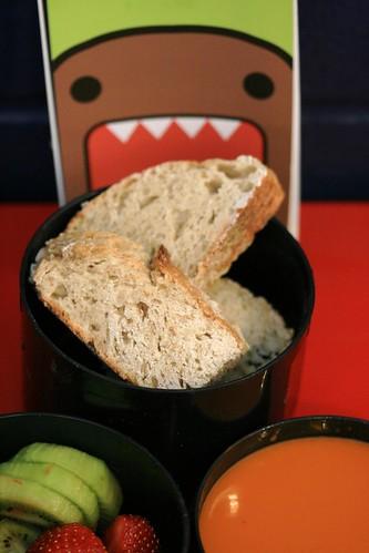 Domokun attempts to devour my lunch!