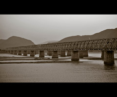 Bezawada , Prakasam Barrage. [ my home town :) ] (Kanishka **) Tags: sea india water river nikon dam hometown ap fav andhra kanishka prakasambarrage d3000 nikond3000