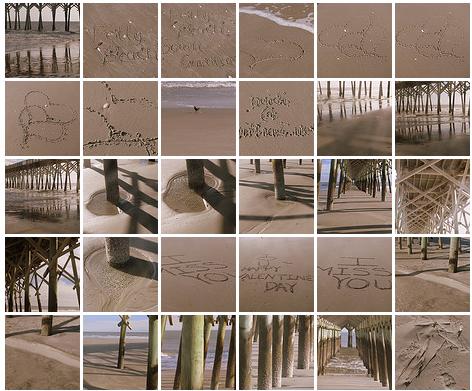 thumbnail images of photo walk at folly beach, south carolina