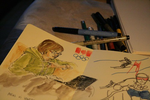 sketching by the telly