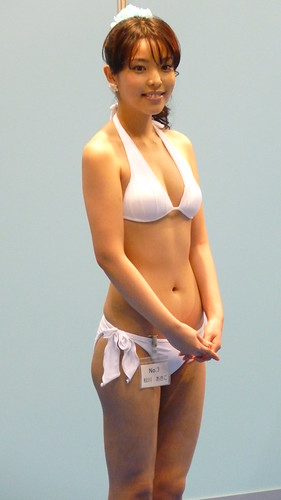 Japanese pretty woman on Festival Bikini