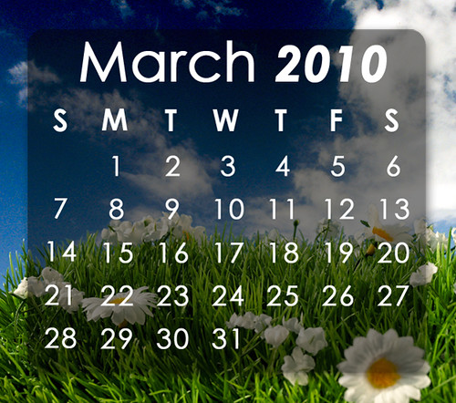 Calendar of Events March 2010