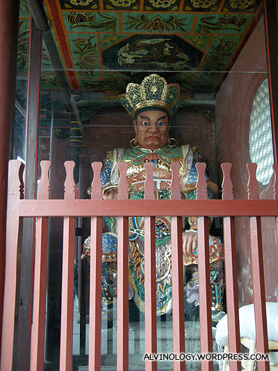 "One of the two ""door god"" (门神)"